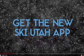Ski Utah Mobile App Commerical