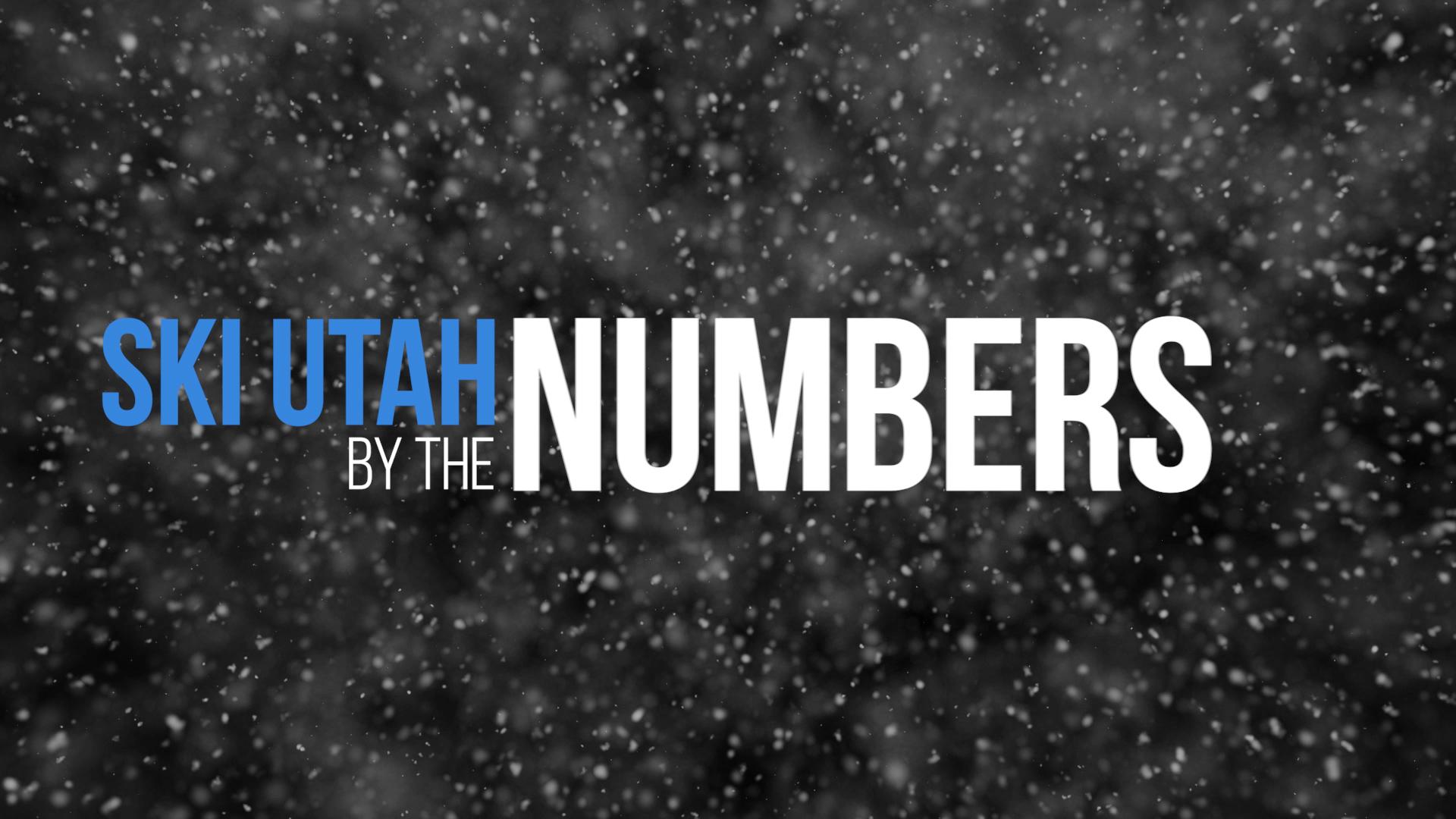 Ski Utah By the Numbers